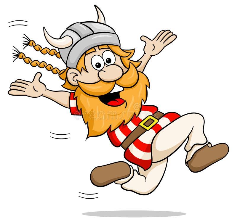 Działająca kreskówka Viking ilustracji