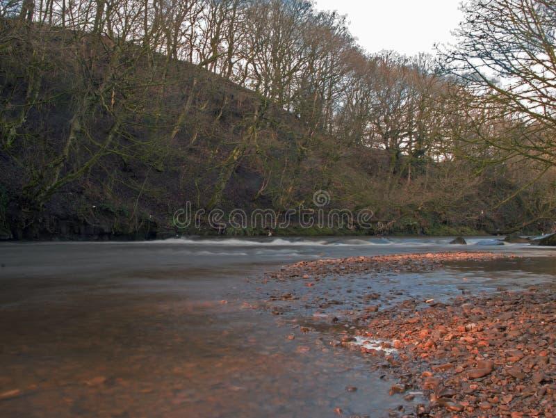 Działająca rzeka Burrs okręgu administracyjnego parka, żelazo kamień fotografia royalty free