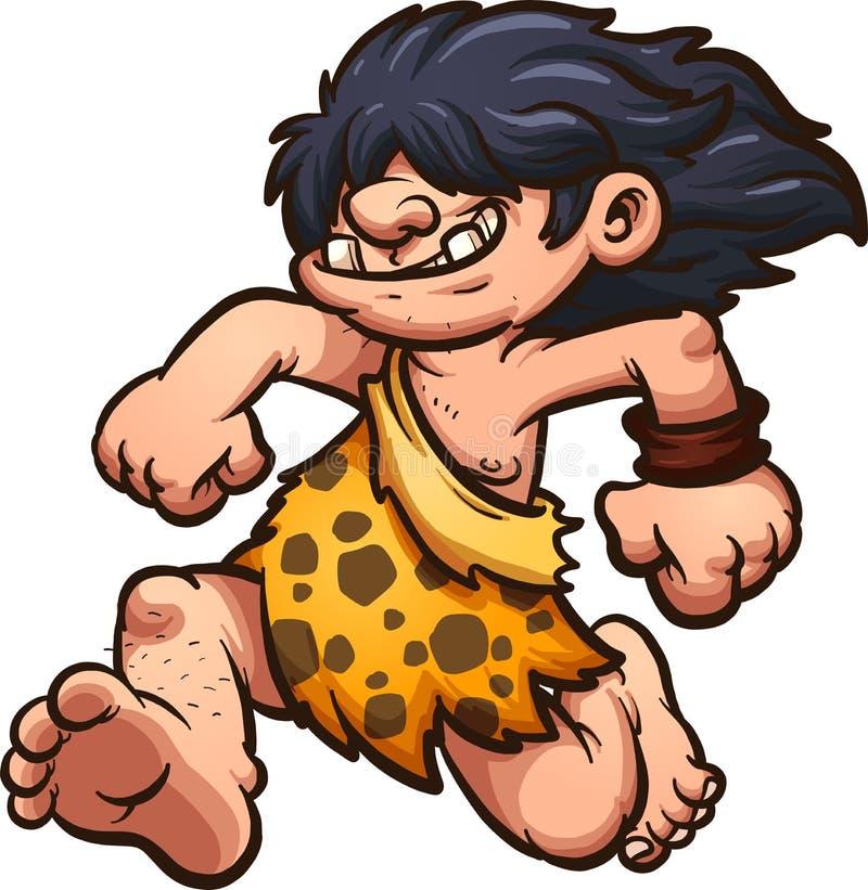 Działający caveman ilustracji