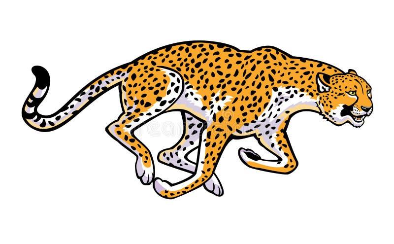 Działający gepard ilustracja wektor