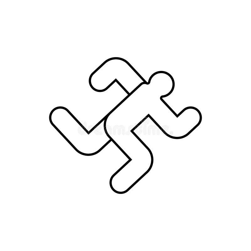 Dzia?aj?cy m??czyzna ikony znak Bieg symbol wektor ilustracja wektor