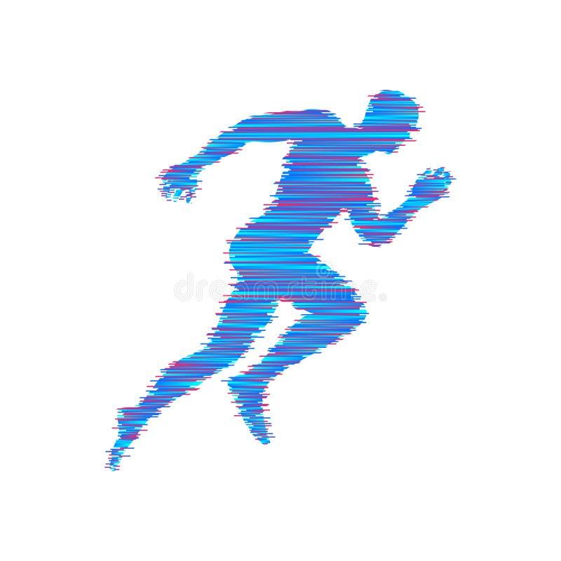 Działający Mężczyzna Projekt dla sporta i biznesu również zwrócić corel ilustracji wektora royalty ilustracja