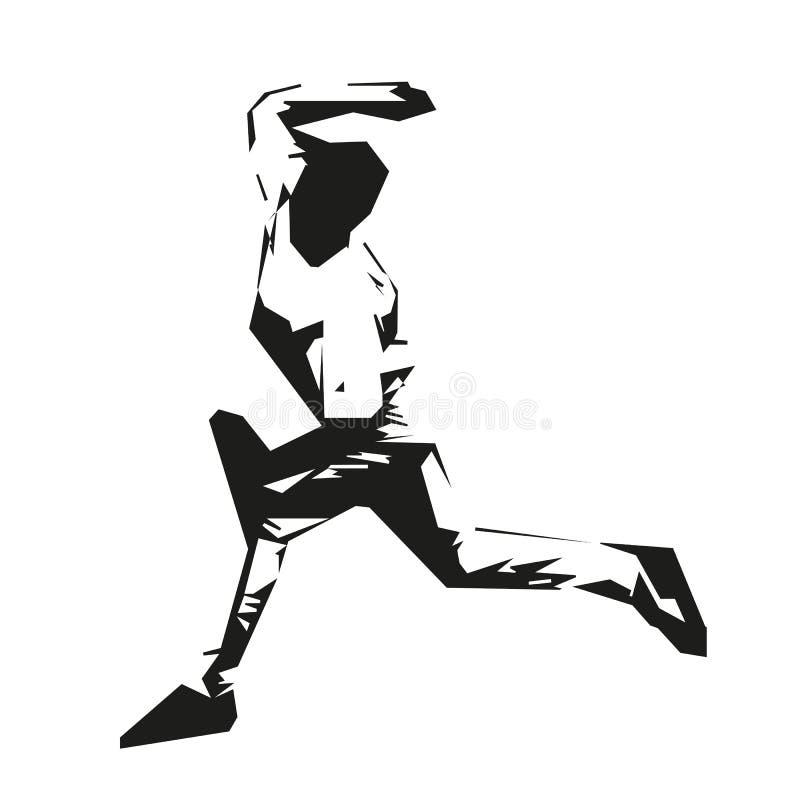 Działający mężczyzna, wektorowy biegacz ilustracja wektor