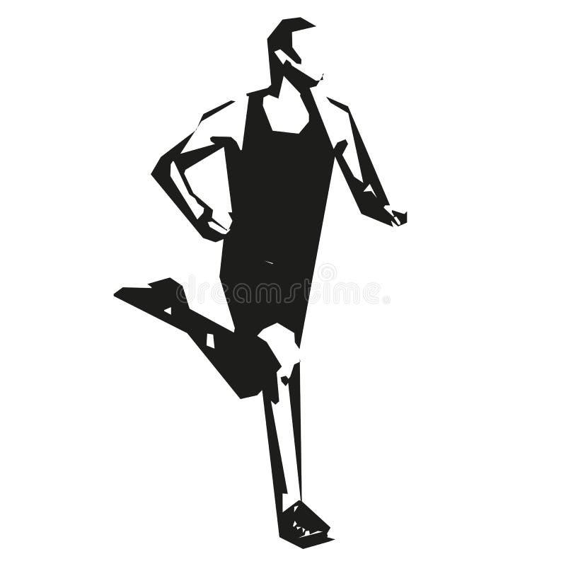 Działający mężczyzna, wektorowy biegacz ilustracji