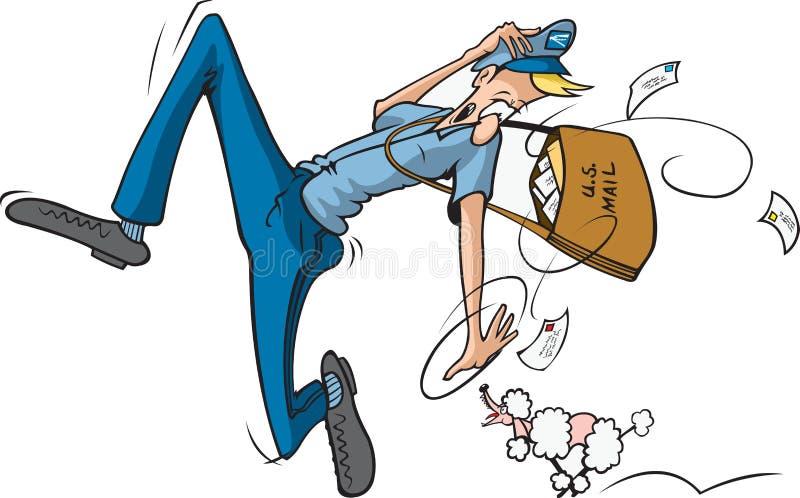 Działający Mailman ilustracja wektor