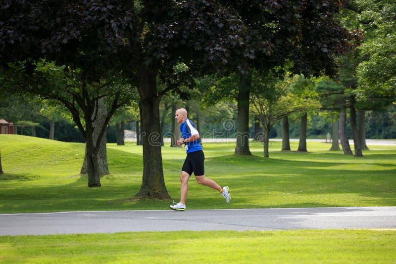 działający triathlete fotografia royalty free