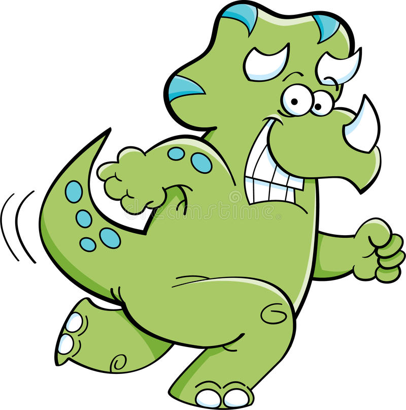 Działający triceratops royalty ilustracja