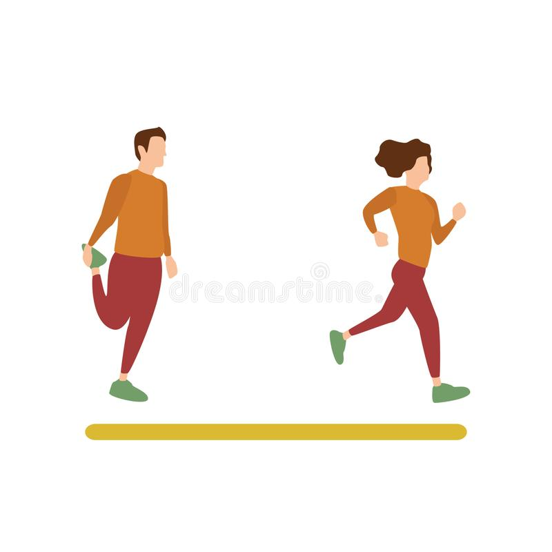 Działalność Człowieka sport ilustracja wektor