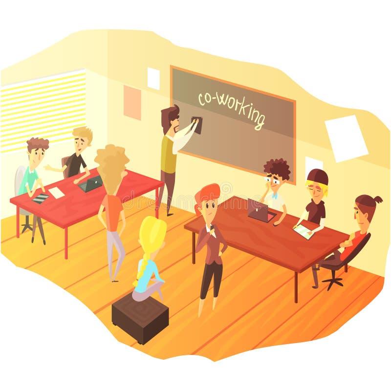 Działania I pracy zespołowej klasa ilustracji