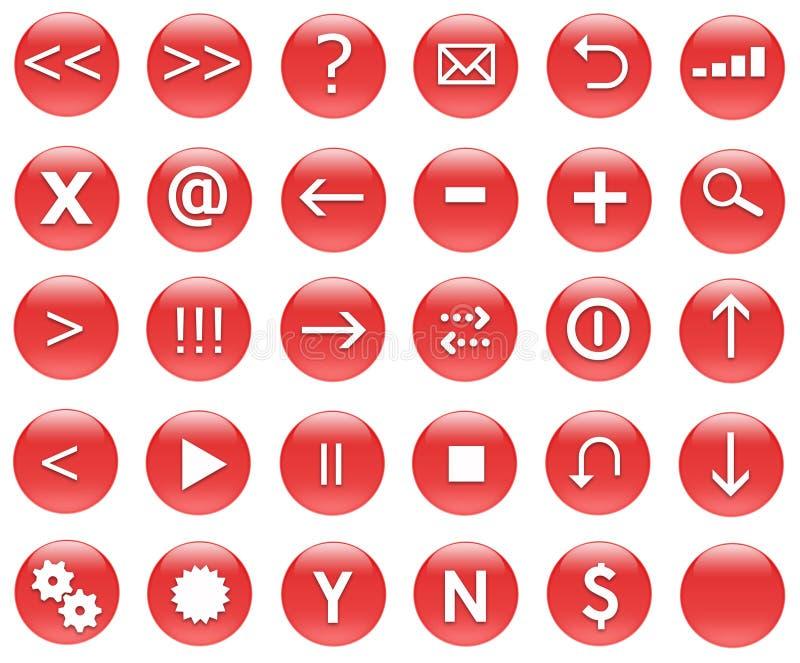 działania sieci czerwonym ikon postawił royalty ilustracja