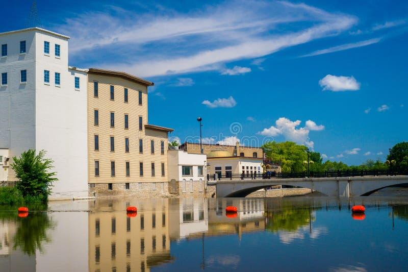 Działo rzeka, northfield odbicia fotografia stock