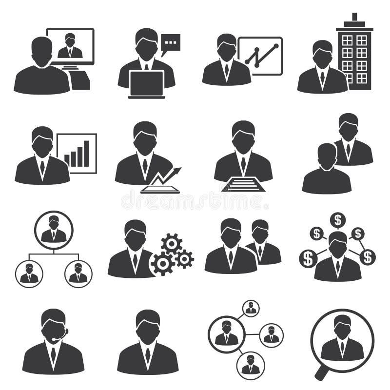 Działu zasobów ludzkich i zarządzania przedsiębiorstwem ikony ilustracji