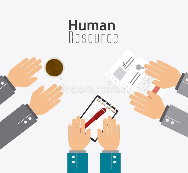 Działu zasobów ludzkich projekt royalty ilustracja