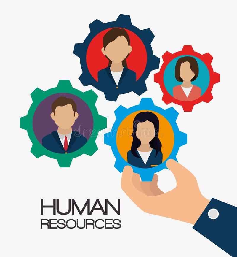 Działu zasobów ludzkich projekt ilustracji