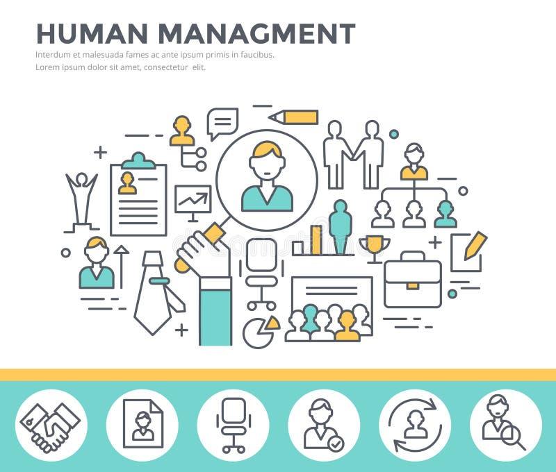 Działu zasobów ludzkich zarządzania pojęcia ilustracja ilustracja wektor