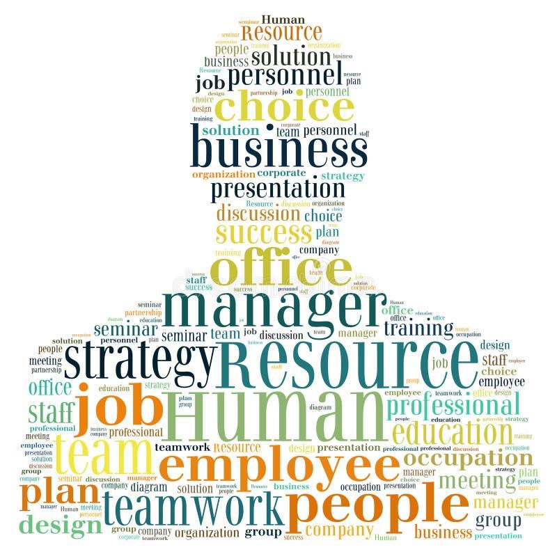 Działu Zasobów Ludzkich zarządzanie ilustracja wektor