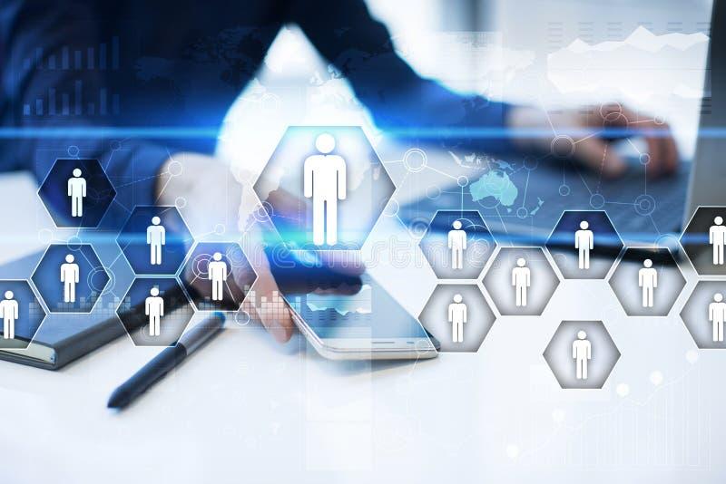 Działu zasobów ludzkich zarządzanie, HR, rekrutacja, przywódctwo i teambuilding, zdjęcie royalty free