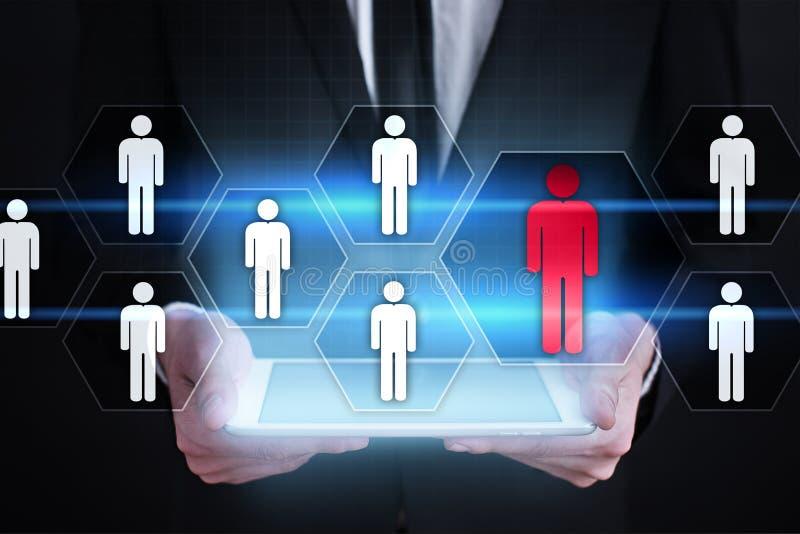 Działu zasobów ludzkich zarządzanie, HR, rekrutacja, przywódctwo i teambuilding, royalty ilustracja