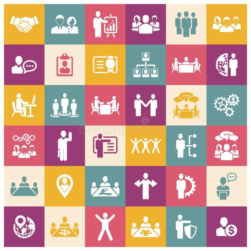 Działy zasobów ludzkich i zarządzanie ikony ustawiać royalty ilustracja