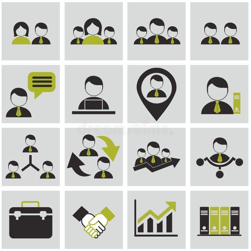 Działy zasobów ludzkich i zarządzanie ikony ustawiać. zdjęcia stock