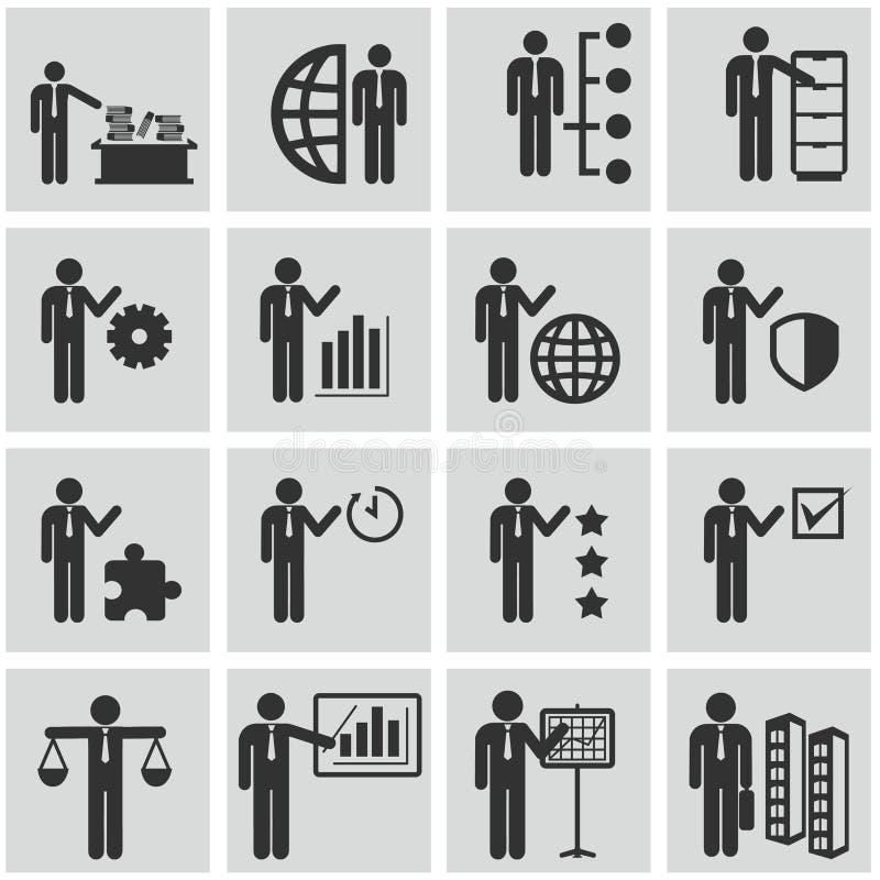 Działy zasobów ludzkich i zarządzanie ikony ustawiać. ilustracja wektor