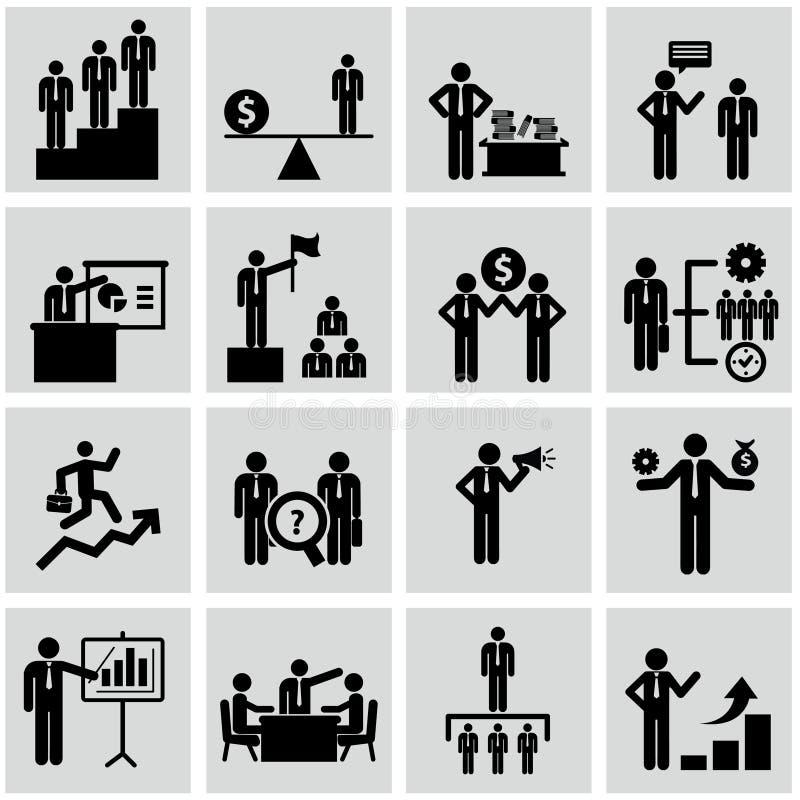 Działy zasobów ludzkich i zarządzanie ikony ustawiać. royalty ilustracja