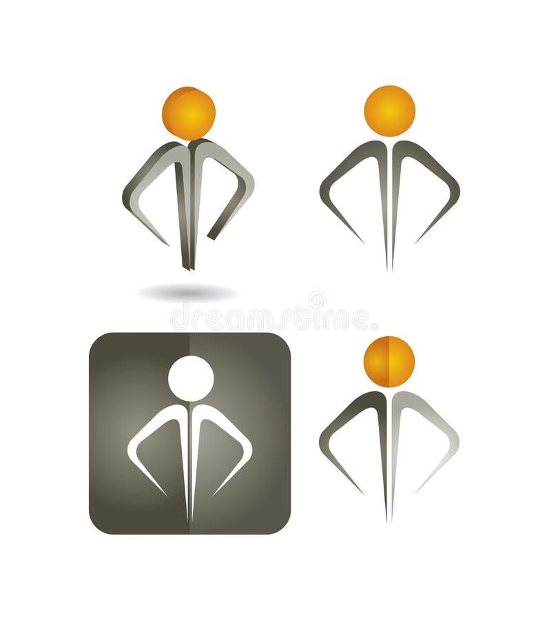 Działy zasobów ludzkich - ikona set ilustracja wektor