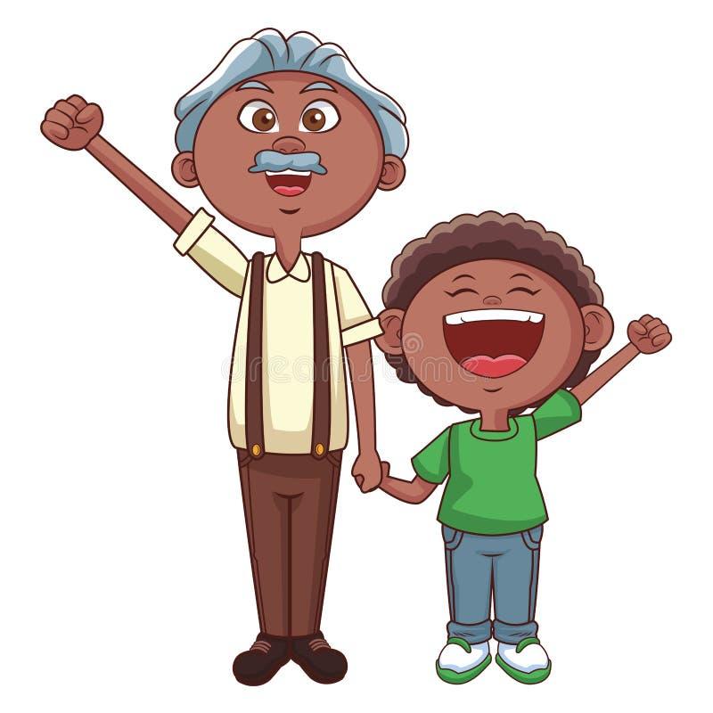 Dziad i wnuk ilustracja wektor