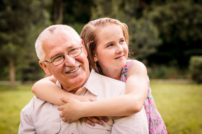 Dziad z wnukiem zdjęcie royalty free