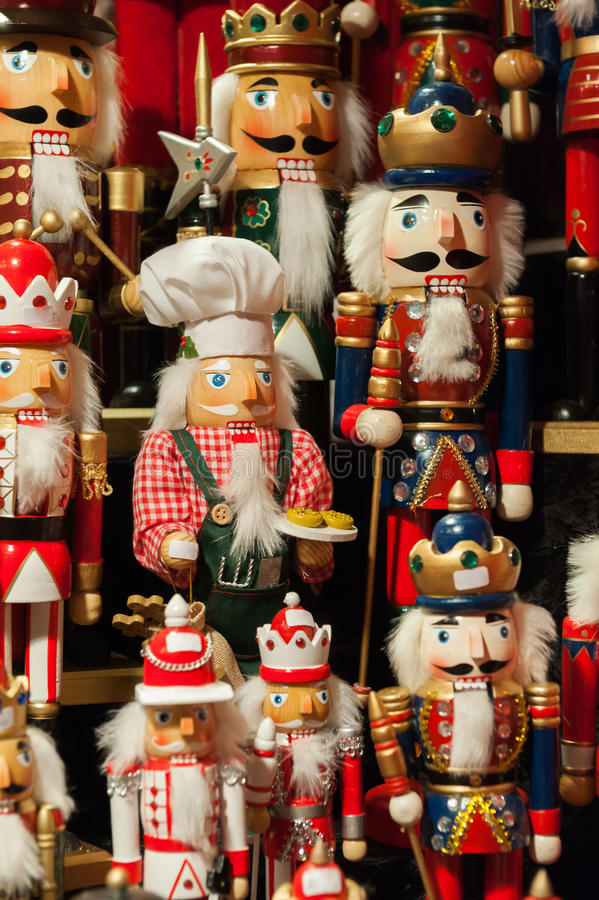 Dziadek do orzechów - Bożenarodzeniowe figurki obraz royalty free