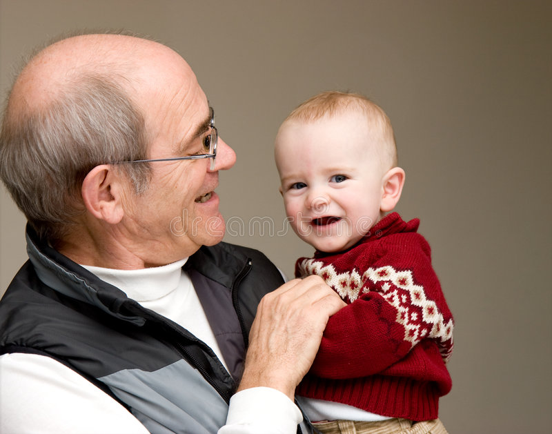 dziadek wnuk obraz royalty free