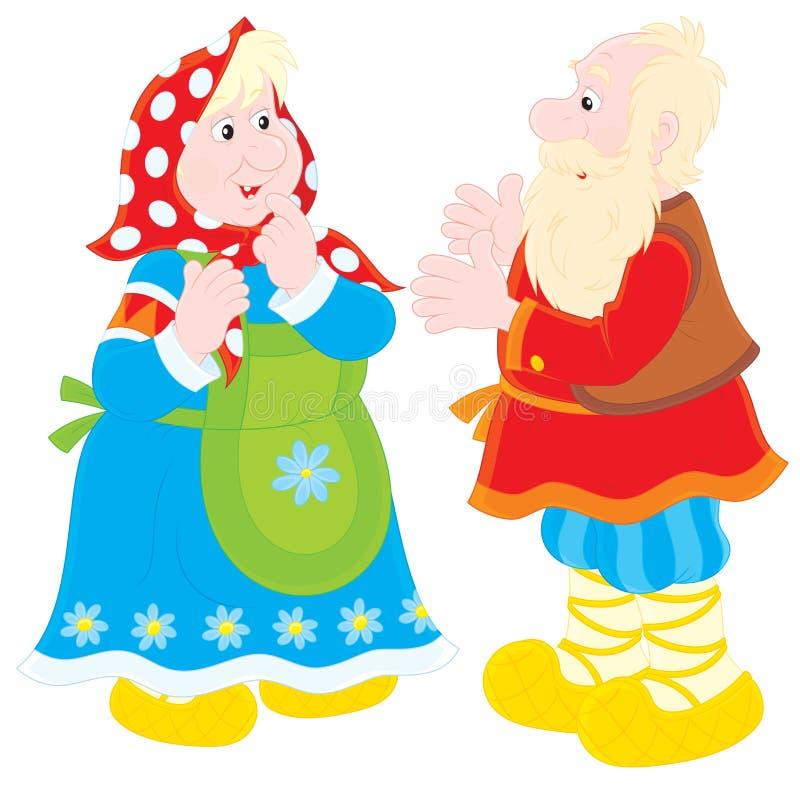 Dziadunio i babcia ilustracji