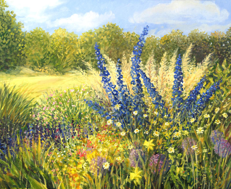 Dzicy Kwiaty ilustracja wektor