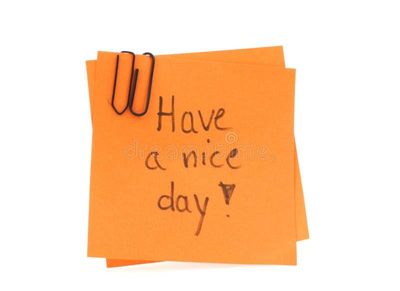 dzień ładną odręczny notatki pocztą dwa obrazy stock