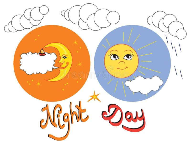 dzień łatwo redaguje noc wektora royalty ilustracja