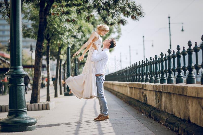 Dzień ślubu w Budapest obraz royalty free