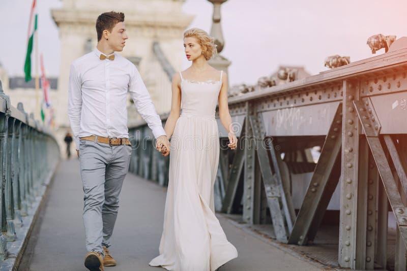 Dzień ślubu w Budapest fotografia stock