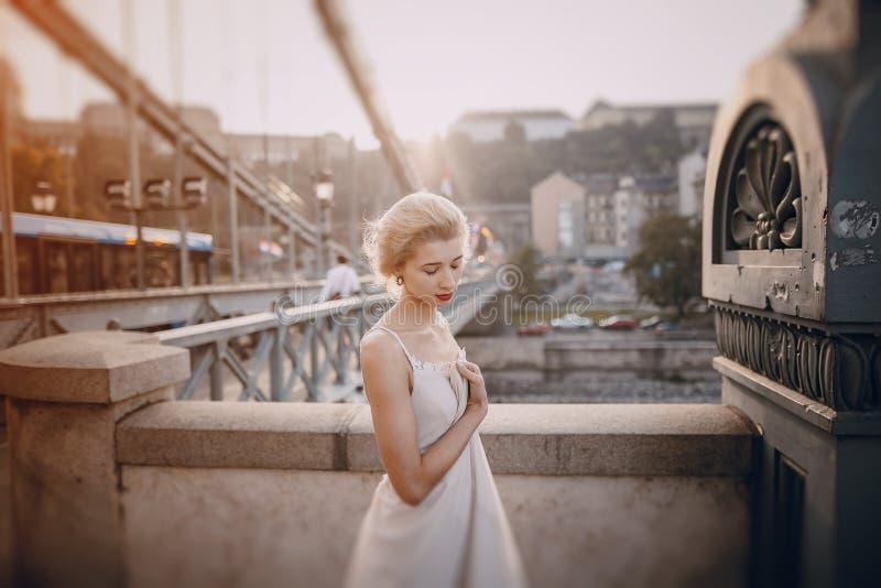 Dzień ślubu w Budapest obrazy royalty free