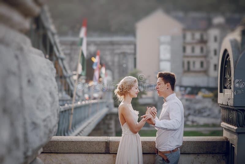 Dzień ślubu w Budapest zdjęcie stock