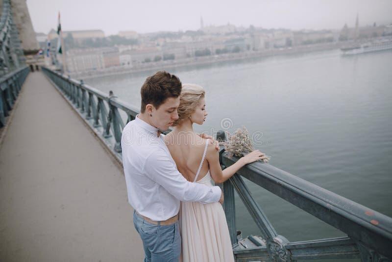 Dzień ślubu w Budapest obraz stock