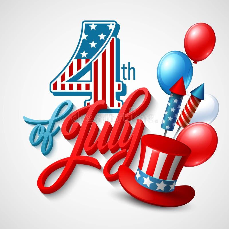 dzień amerykańska niezależność Świąteczny wektor ilustracji