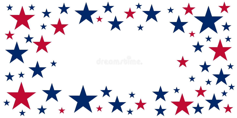 dzień amerykańska niezależność 4 Lipca Szablonu tło dla kartka z pozdrowieniami, plakatów, ulotek i broszurki, również zwrócić co ilustracji