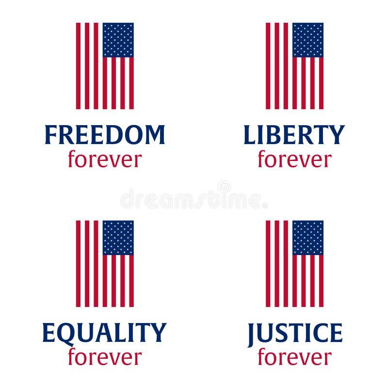 dzień amerykańska niezależność 4 Lipca Szablonu tło dla kartka z pozdrowieniami, plakatów, ulotek i broszurki, również zwrócić co royalty ilustracja