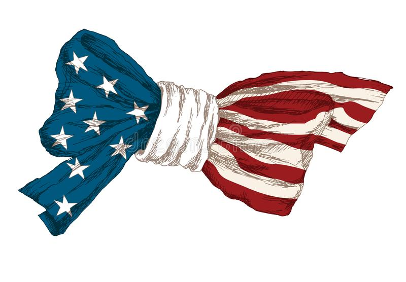 dzień amerykańska niezależność Symbole dzień niepodległości Balon w formie serca, kawałek Amerykański wystrój dla royalty ilustracja