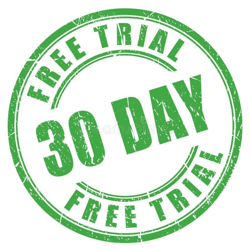 30 - dzień bezpłatnej próby pieczątka ilustracja wektor
