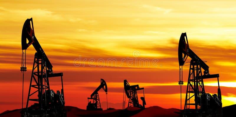dzień Czerwiec Kazakhstan miesiąc olej pompuje western fotografia royalty free