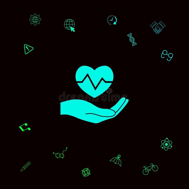 dzień daje ręce kierowego mienia target2165_1_ s valentine czarny zmiany ikony wątrobowy medyczny ochrony po prostu biel Graficzn ilustracja wektor