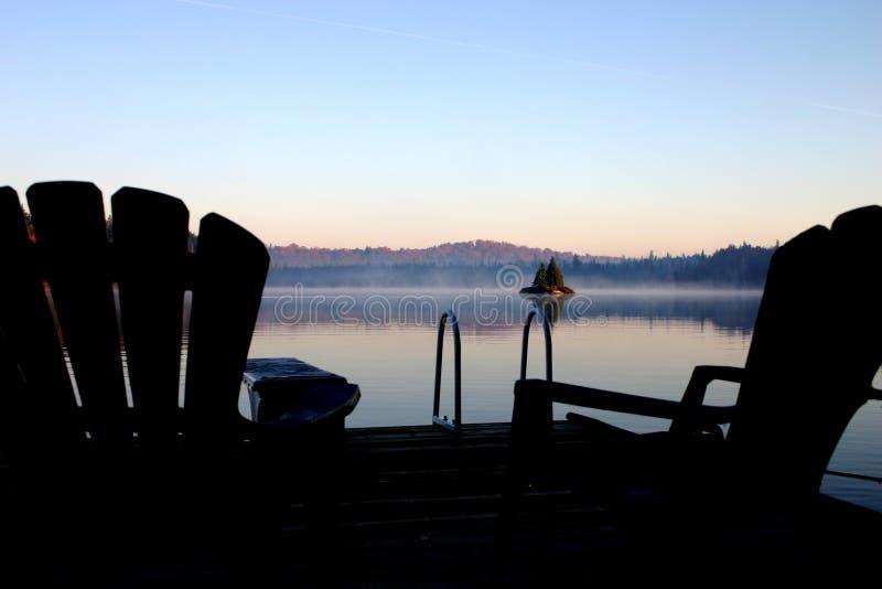 dzień dobry mgła. fotografia stock
