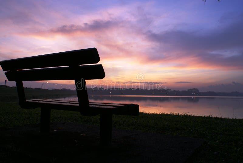 dzień dobry scenerii lake zdjęcie royalty free