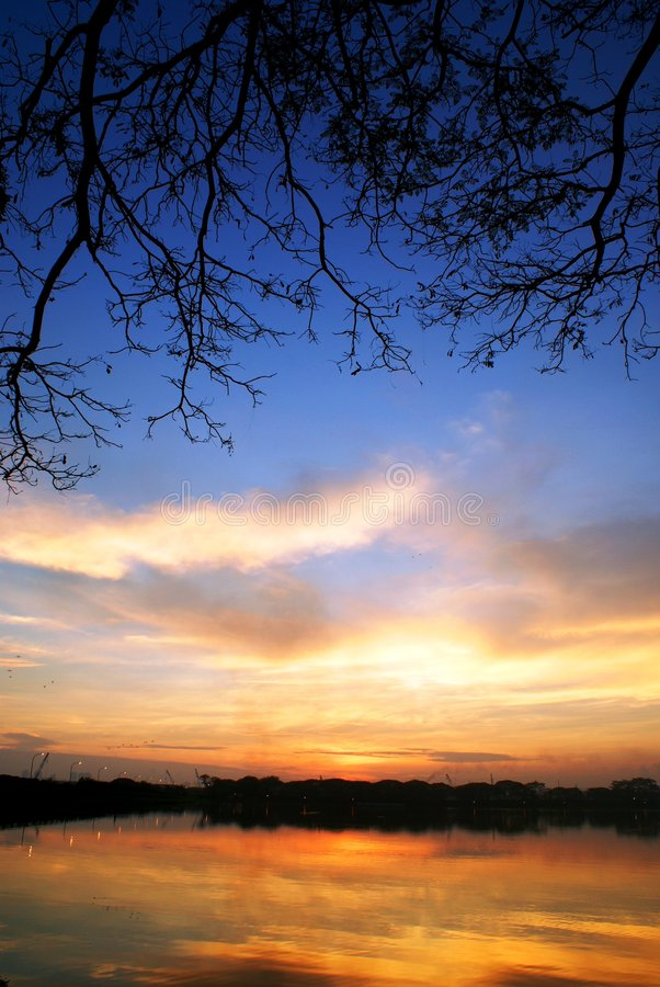 dzień dobry sceniczny jezioro zdjęcie royalty free